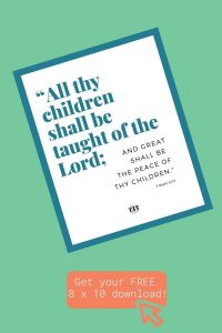 All thy children shall be taught of the Lord FREE art.