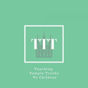 Green logo for Teaching Temple Truths to Children website