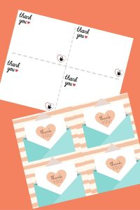 Two types of thank you note printables