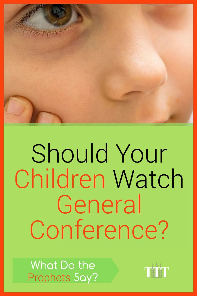 Should Your Children Watch General Conference? Pinterest Pin