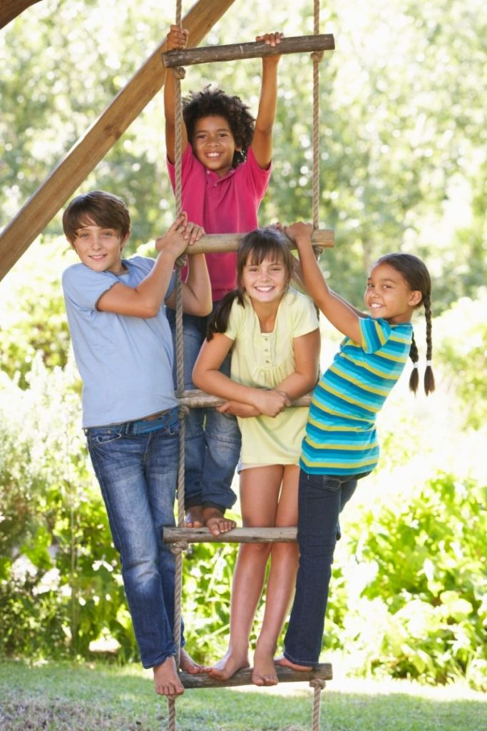 Help your children follow the covenant path. Kids on ladder