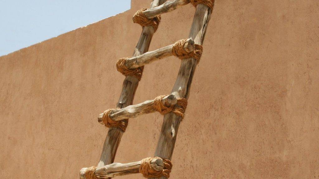 How to help children stay on the covenant path. Ladder against wall.