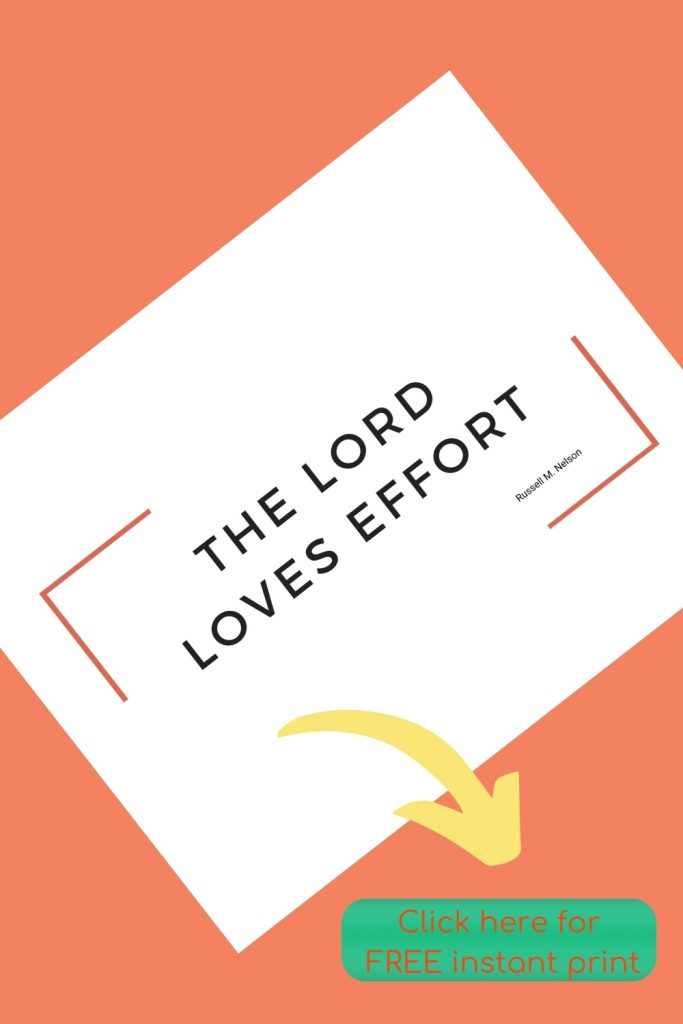 The Lord loves effort: FREE instant print